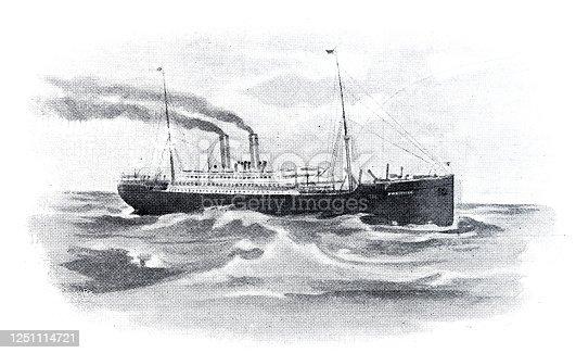 istock Steam ship 1251114721