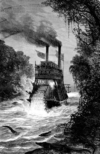Steamboat on Colombian river