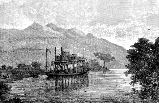 Steamboat on Magdalena river