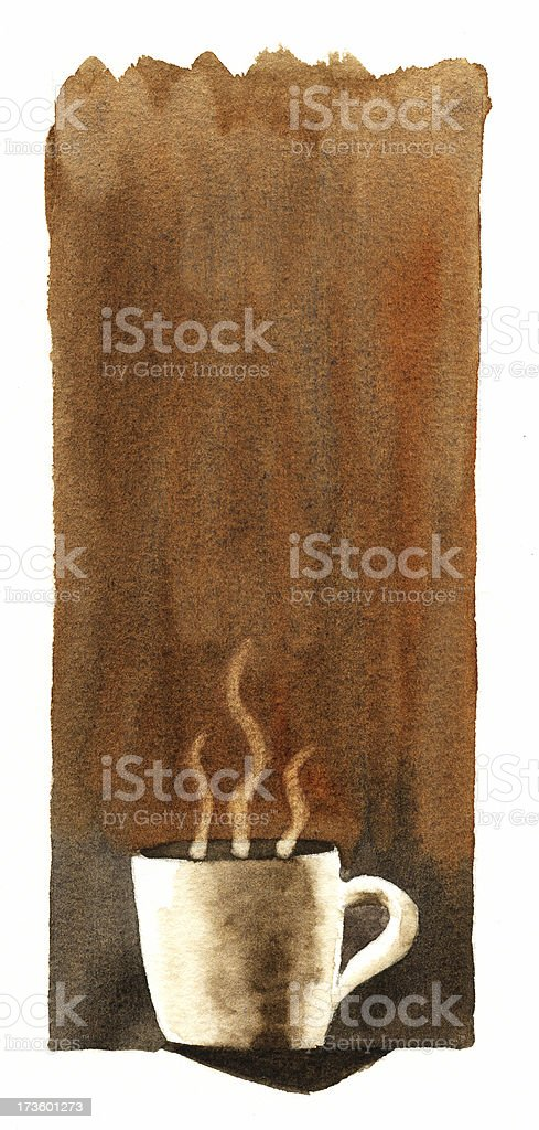Steaming Hot Coffee royalty-free stock vector art