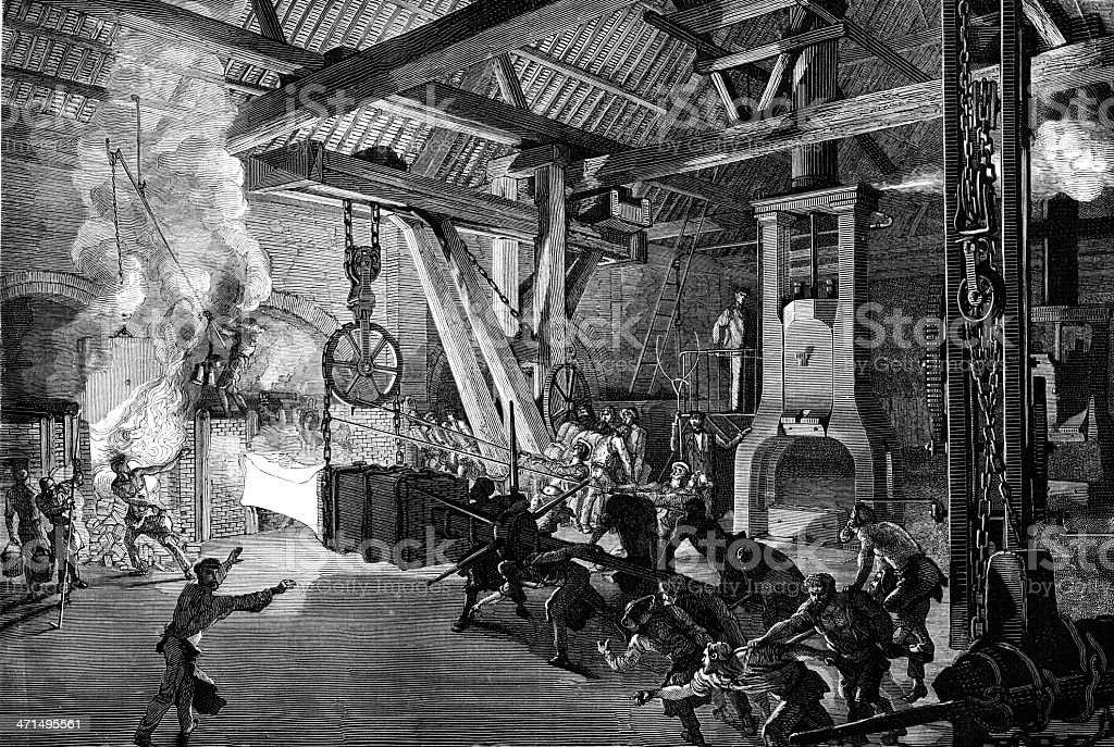 Steel mill royalty-free steel mill stock vector art & more images of 19th century