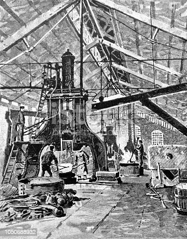 Steel smelting manufactory - 1888