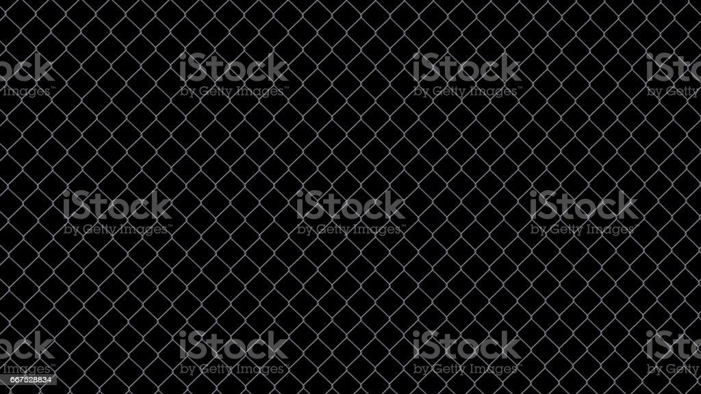 steel wire fence isolated on black background steel wire fence isolated on black background - immagini vettoriali stock e altre immagini di acciaio royalty-free