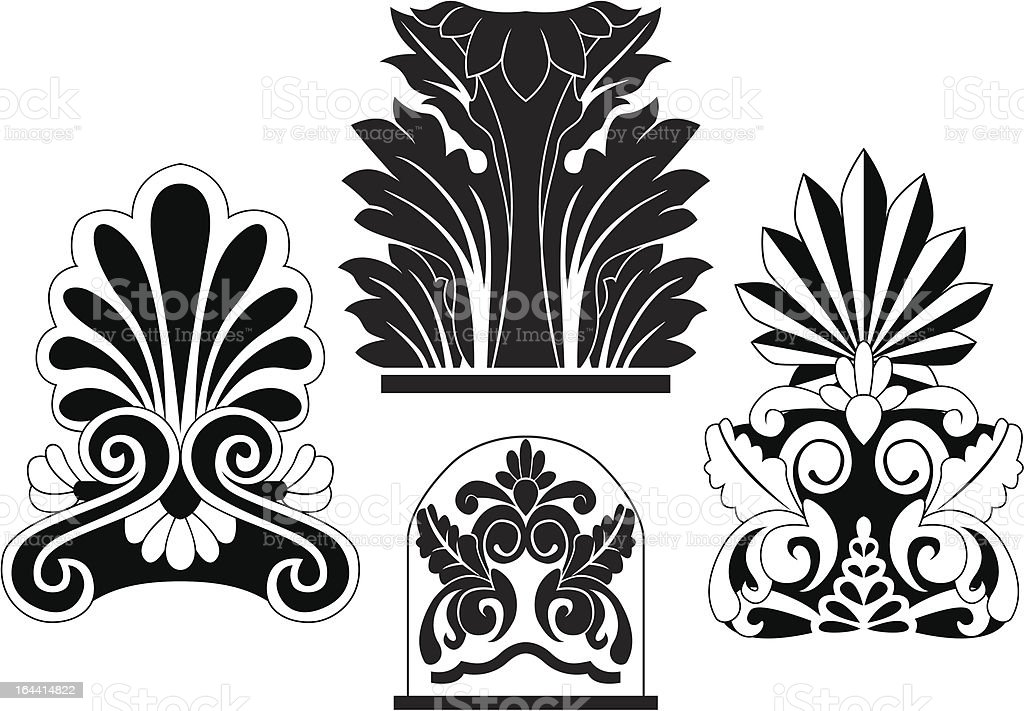 stencil of traditional architectural elements royalty-free stencil of traditional architectural elements stock vector art & more images of architectural feature