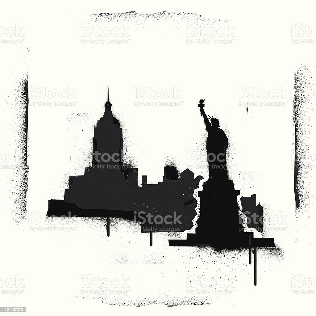 NYC Stencilscape royalty-free stock vector art