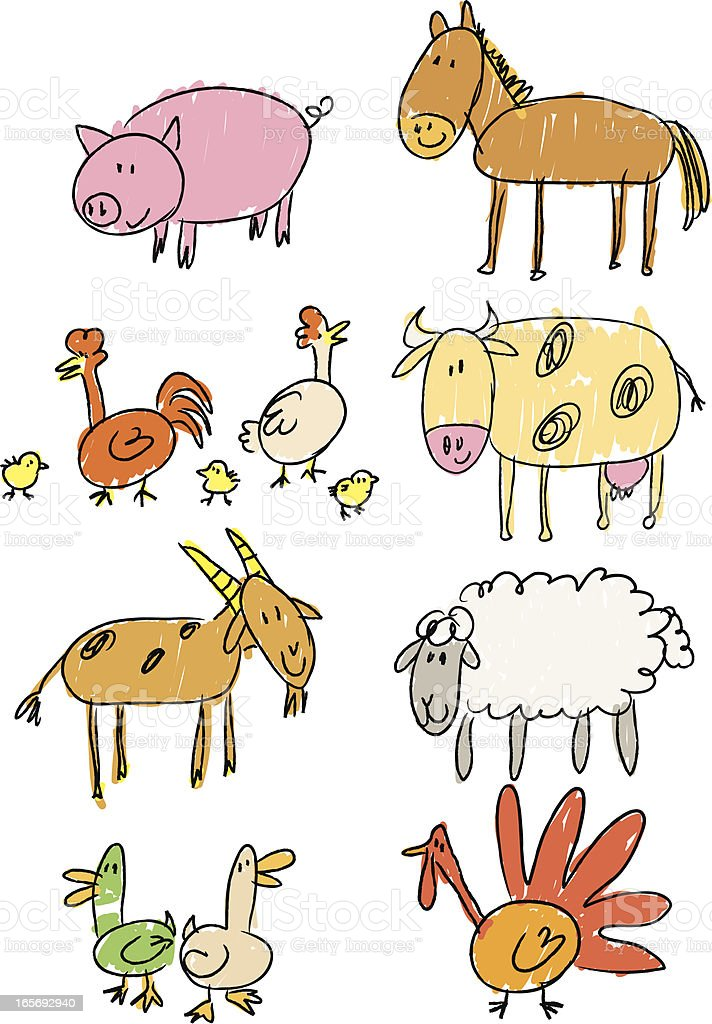 stick figure farm royalty-free stick figure farm stock vector art & more images of animal