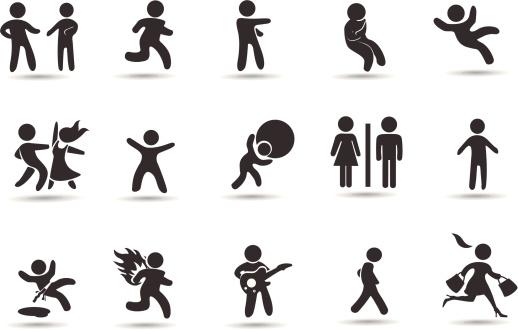 Stick Figure Icon Set