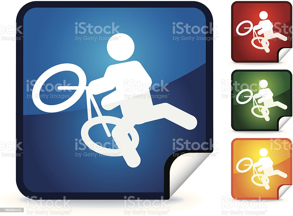 BMX | Sticker Collection royalty-free stock vector art