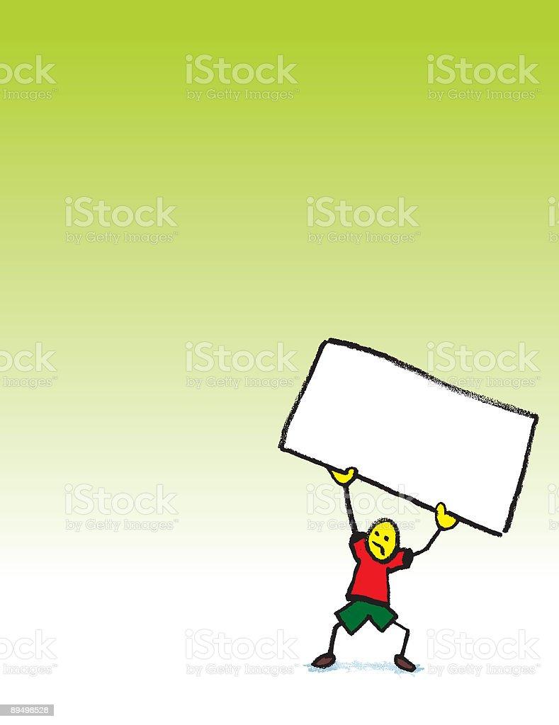 Stickman con segno stickman con segno - immagini vettoriali stock e altre immagini di composizione verticale royalty-free