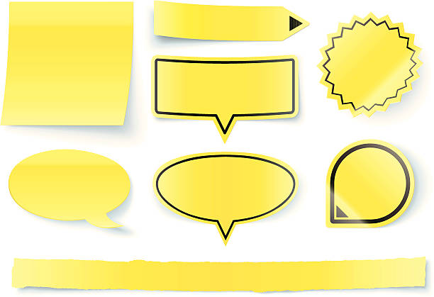 3 d заметки и указания для - post it notes stock illustrations