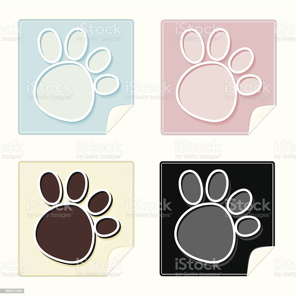 Sticky Paws royalty-free stock vector art