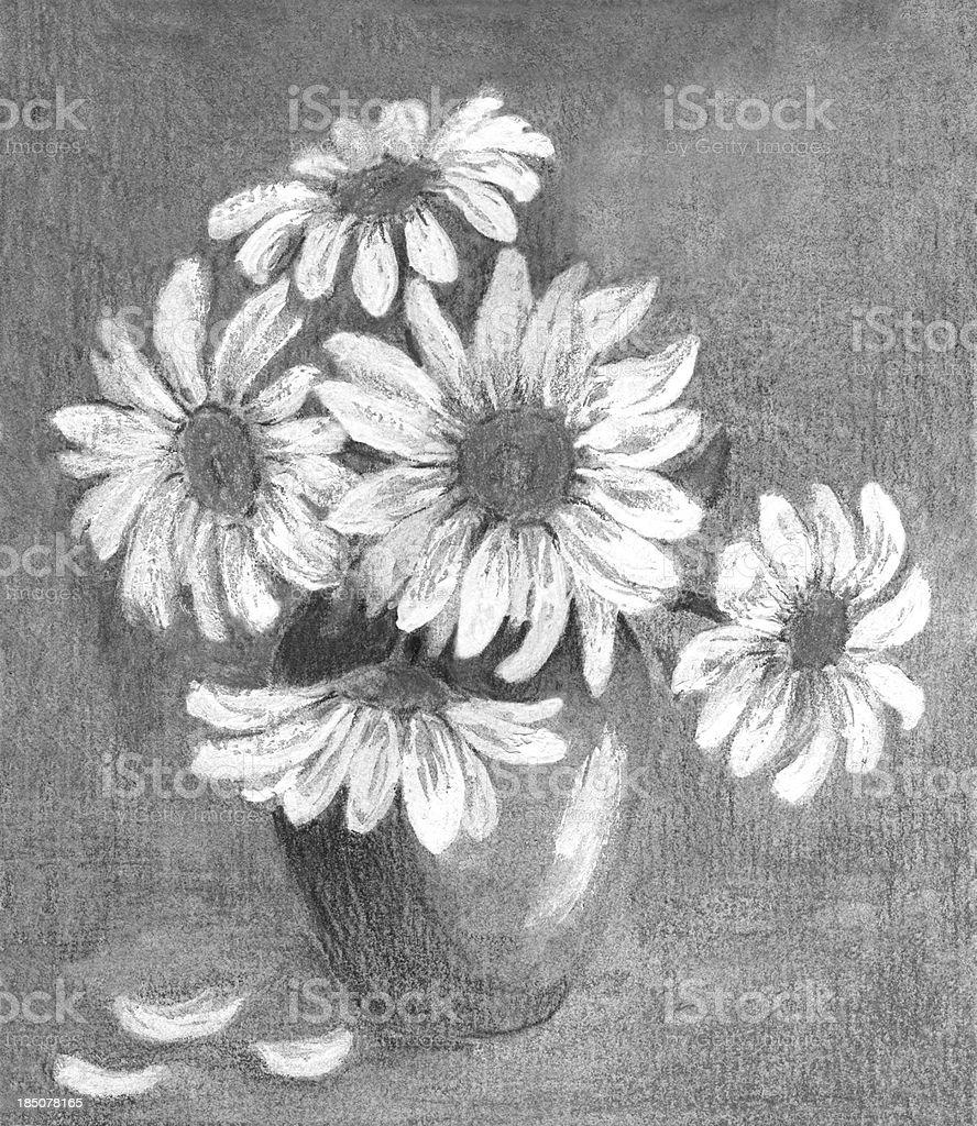 Stillleben Mit Daisy Blumenarrangement Stock Vektor Art Und Mehr