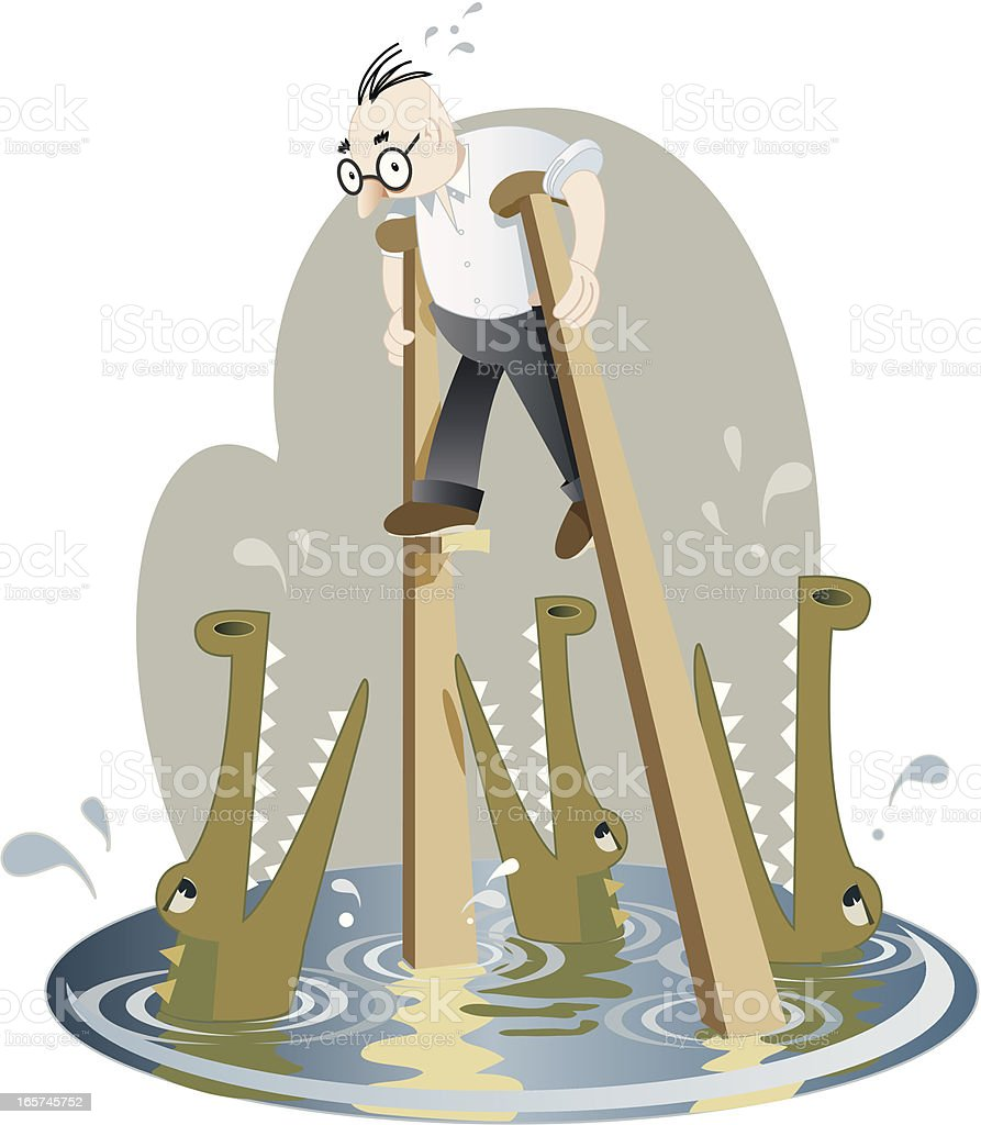 Stilts royalty-free stock vector art