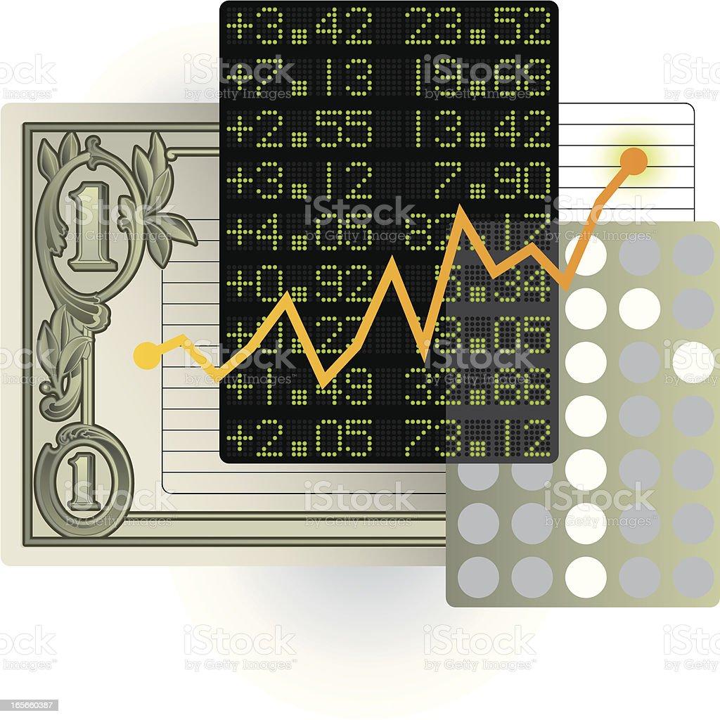 stock market royalty-free stock vector art