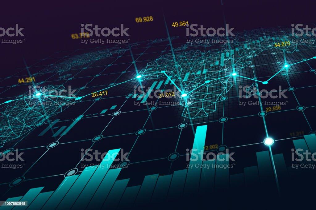 Aktiemarknaden eller forex handel diagram - Royaltyfri Abstrakt Illustrationer