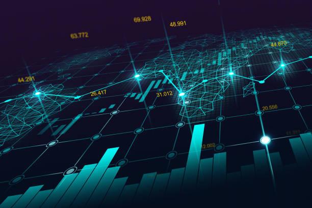 ilustrações, clipart, desenhos animados e ícones de bolsa de valores ou forex trading gráfico - economia