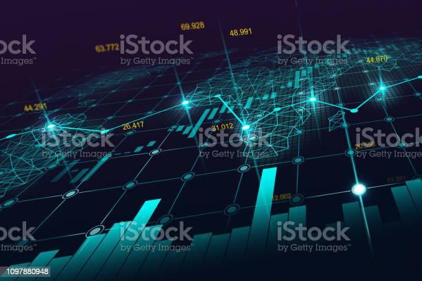 Aktiemarknaden Eller Forex Handel Diagram-vektorgrafik och fler bilder på Abstrakt