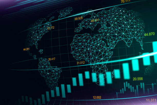 Börse oder Forex trading graph – Vektorgrafik