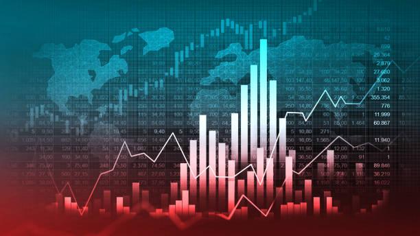 Börsen- oder Devisenhandelsdiagramm – Vektorgrafik