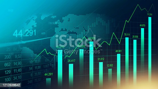 istock Stock market or forex trading graph 1212638642