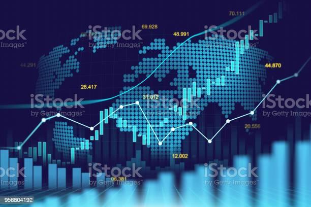 Börse Oder Forex Trading Graph In Futuristisches Konzept Stock Vektor Art und mehr Bilder von Daten
