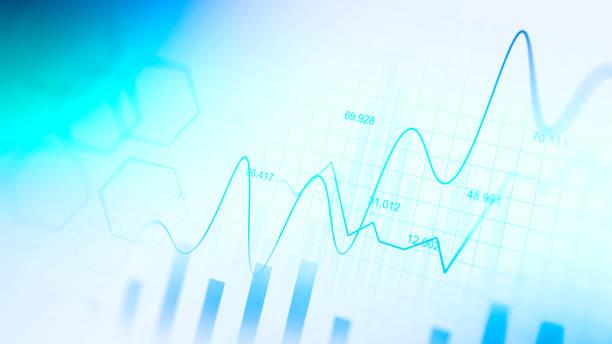 Börsen- oder Devisenhandelsdiagramm im grafischen Konzept – Vektorgrafik