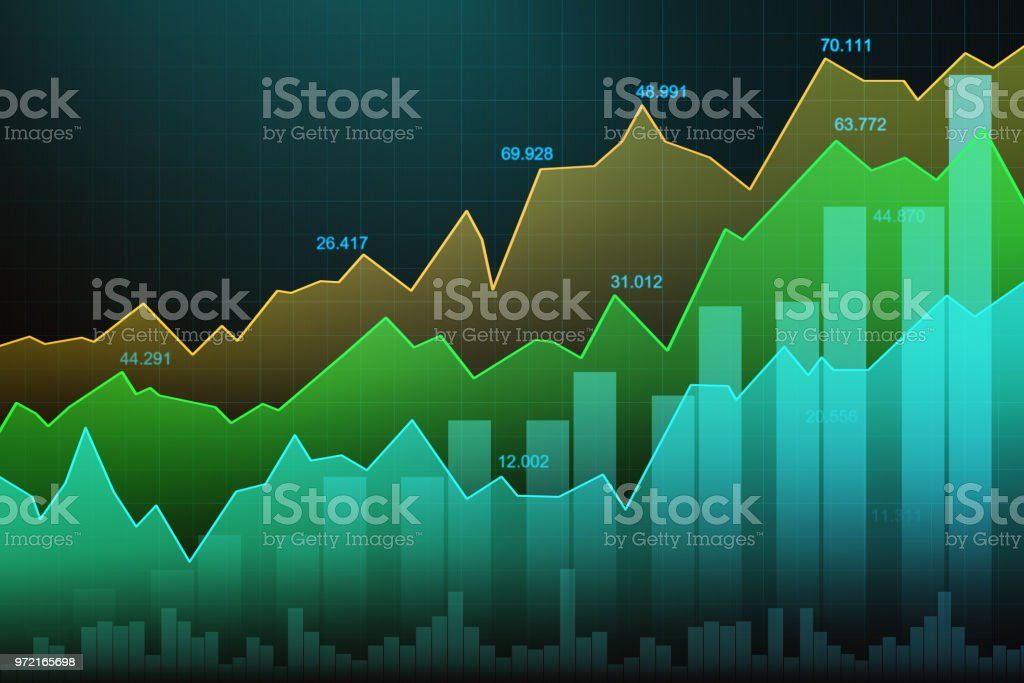 stock market or forex trading graph in graphic concept stock vector
