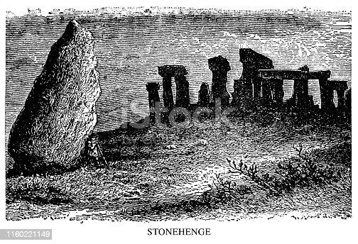 Stonehenge - Scanned 1897 Engraving