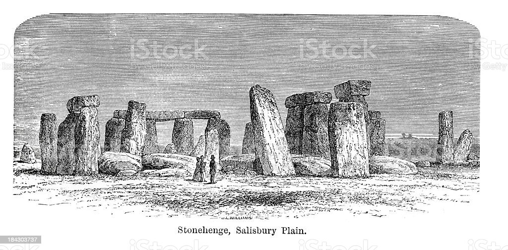 Stonehenge, Salisbury Plain vector art illustration