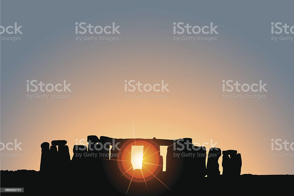 Stonehenge Solstice vector art illustration
