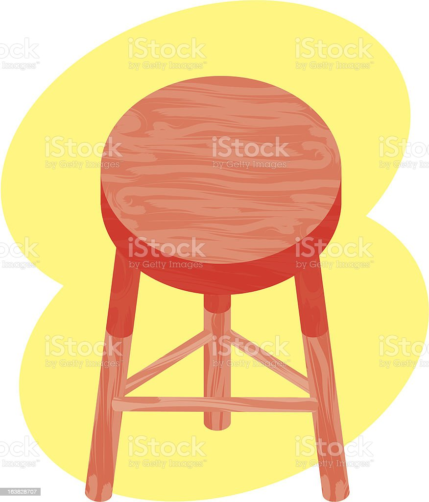 Stool for Sitting royalty-free stock vector art