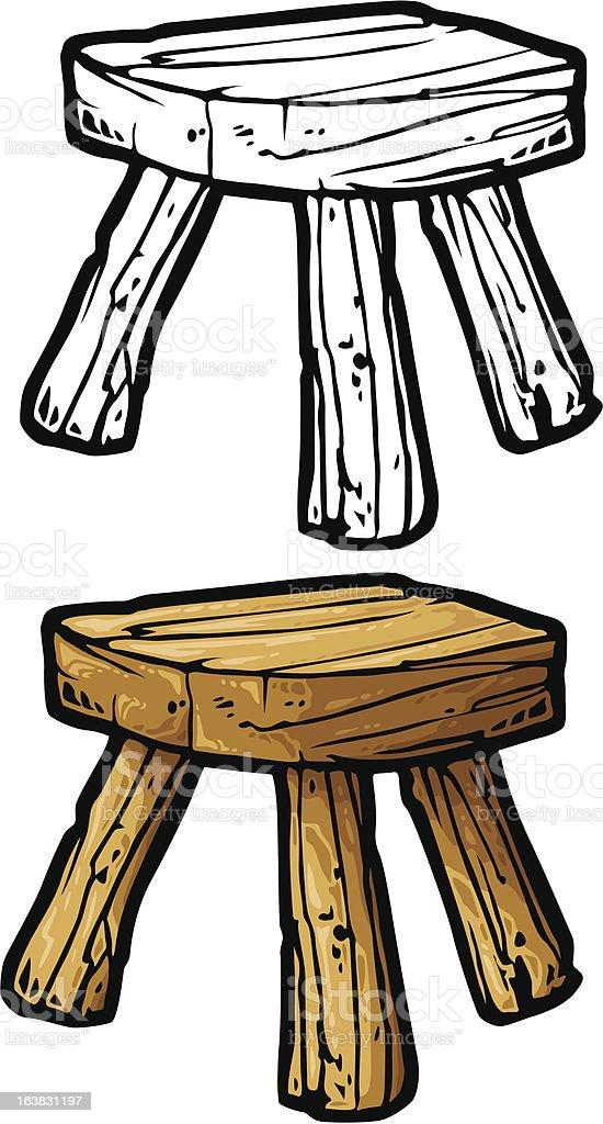 stool vector art illustration