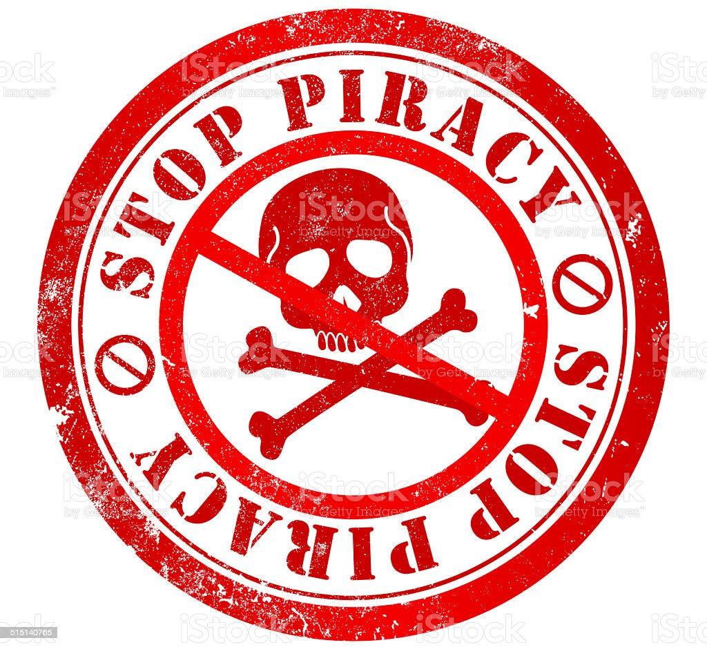 La piratería de la firma - ilustración de arte vectorial