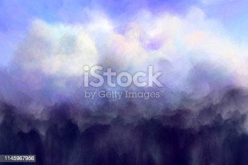 storm cloud, digital painting