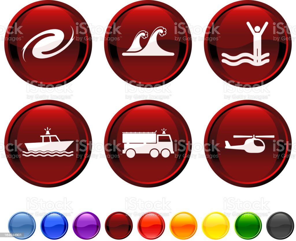 storm rescue operation royalty free vector icon set royalty-free stock vector art