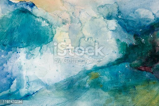 istock Storm. Watercolor on paper 1197420234