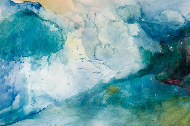 Sturm. Aquarell auf Papier – Vektorgrafik