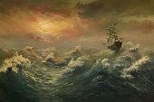 istock Storming ocean 161840481