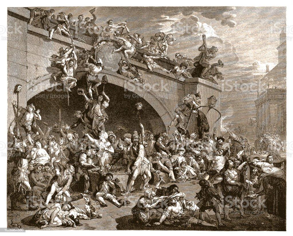 Prise de la Bastille, Français révolution 1789 - Illustration vectorielle