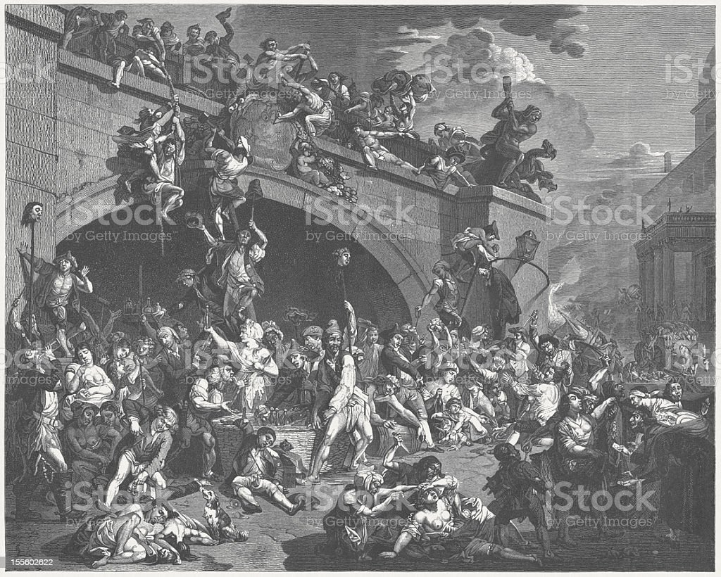 Storming de la Bastille, 1789 - Illustration vectorielle