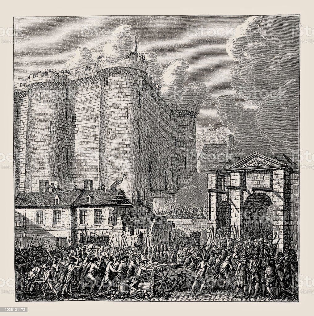 Prise de la Bastille Paris France 1789 - Illustration vectorielle