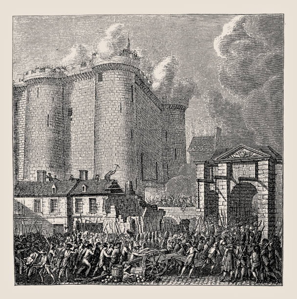 This is a picture of Amazing Storming Of The Bastille Drawing