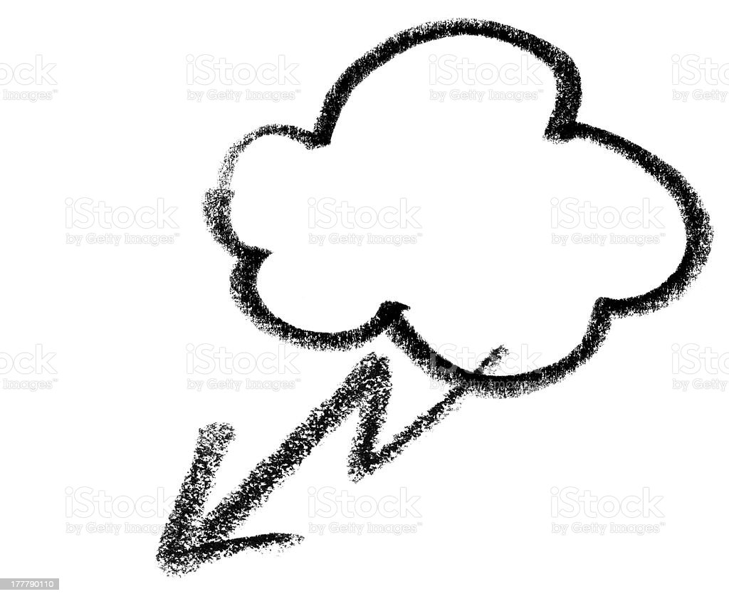 stormy cloud icon vector art illustration