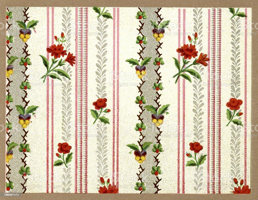 Straight Stripe Pattern - 18th Century royalty-free stock vector art