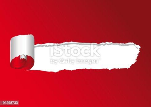 istock strappo su rosso 91598733