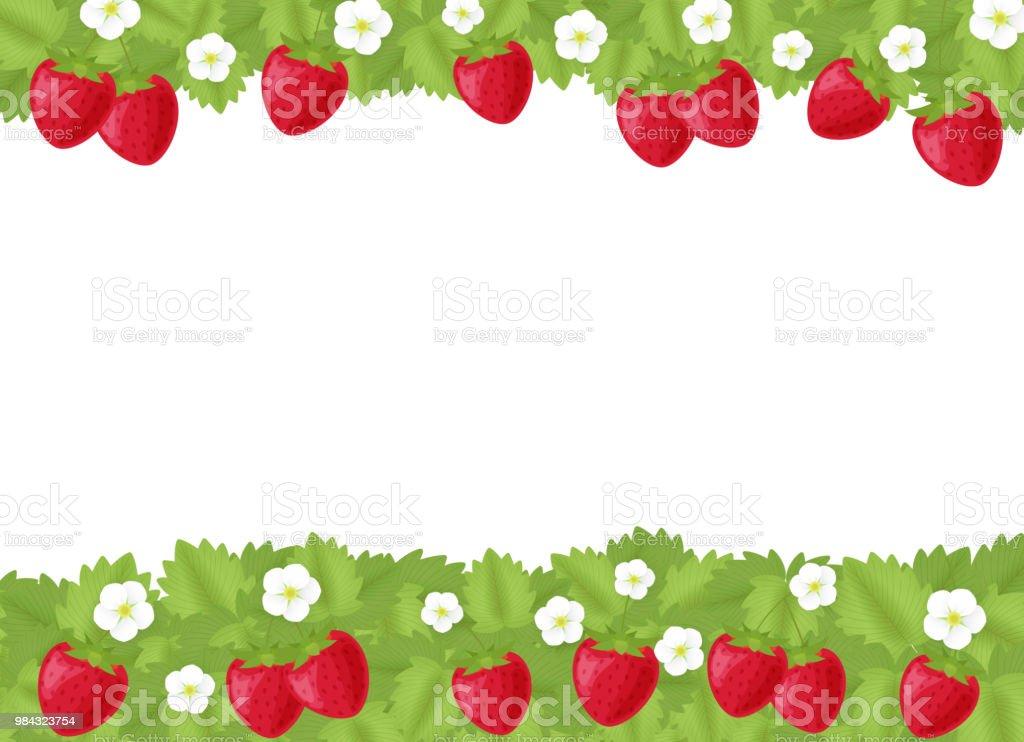 Strawberry Copy space vector art illustration