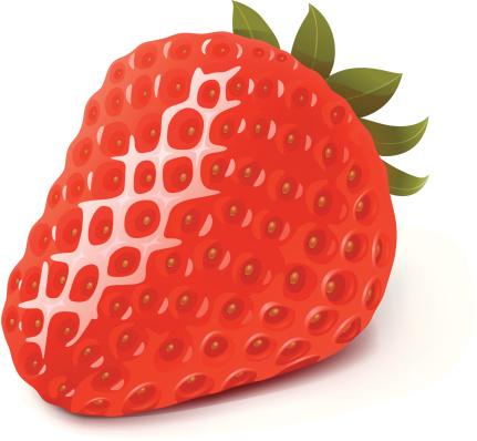 Strawberry-vektorgrafik och fler bilder på Bär - Frukt