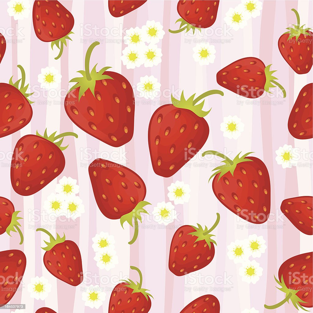 Strawberry seamless pattern. royalty-free strawberry seamless pattern stock vector art & more images of backgrounds