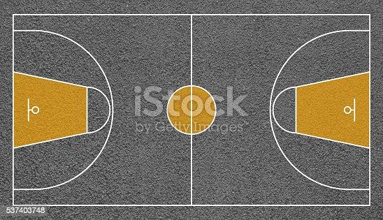 Street Basketball Court Top View Field Textured Stock