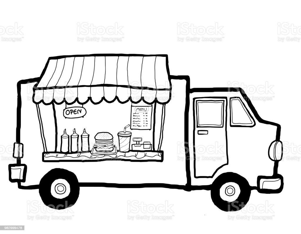 Street Food Truck Stock Illustration - Download Image Now